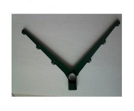 Bavolet-držiak ostnatého drotu zelený dvojstranný 48mm
